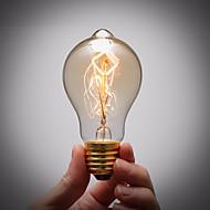 순수 구리 램프 캡 레트로 빈티지 E27 예술 필라멘트 전구 산업 백열 전구 40w