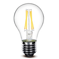 1 pcs shenmeile E26/E27 4 W 4 COB 400 LM Warm White G Dimmable LED Filament Lamps AC 220-240 / AC 110-130 V