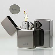 מתנה אישית - מצית דלק - אופנתי - מתכת - כסף