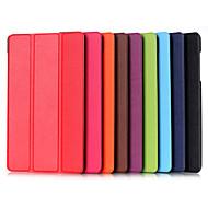 8 pulgadas patrón triple desplegable de alta calidad de cuero de la PU Funda para Huawei MediaPad m2 (colores surtidos)