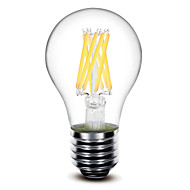 1 pcs shenmeile E26/E27 8 W 6 COB 800 LM Warm White G Dimmable LED Filament Lamps AC 220-240 / AC 110-130 V