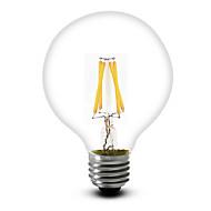 1 pcs sml E26/E27 4 W 4 COB 400 LM Warm White G95 Dimmable LED Filament Lamps AC 220-240 / AC 110-130 V