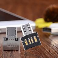 dm micro usb til usb flash-stasjon OTG adapter for mobiltelefon - sølv (2stk)