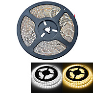 jiawen® kalis air 5m 300-3528 smd 2000lm 3000-3200k / 6000-6500K panas cahaya putih / putih membawa jalur cahaya (dc12v / 5m)