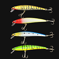 4Pcs Hard Bait Lifelike Minnow 105mm/10g Fishing Lure Baits Tackle