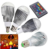 1 pcs E14 / GU10 / E26/E27 / B22 15 W 1 High Power LED 1000 LM RGB Dimmable / Remote-Controlled Globe Bulbs AC 85-265 V