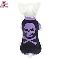 고양이 / 개 티셔츠 퍼플 강아지 의류 여름 해골 웨딩 / 코스프레