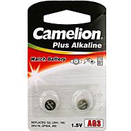 Camelion tamanho de célula botão alcalina ag3 (2pcs)