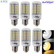 YouOKLight® 6PCS E14/E27 20W 1900lm CRI>80 3000K/6000K 96*SMD5730 LED Light Corn Bulb (AC110-120V/220-240V)