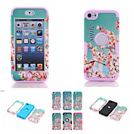 cherry blossom mönster hög kvalitet snap-on pc + silikon hybrid combo rustning fallet täcker för iPod touch 6