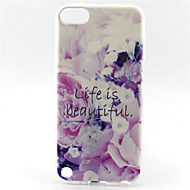 Flower Lift Is Beautiful Painting Pattern TPU Soft Case for iPod Touch 5