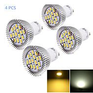 youoklight® 4st GU10 7W cri = 80 700lm varmvit / kallvit 15-smd5630 LED spotlights (AC 85 ~ 265V)