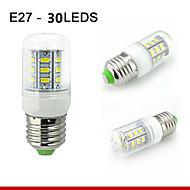 1 pcs E26/E27 7W 30SMD5730 550LM Warm White / Natural White Decorative Corn Bulbs 110V/220V