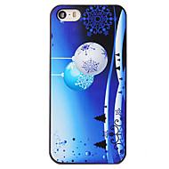julen stil natt klokkene snøfnugg mønster pc hardt tilbake dekke for iPhone 5 / 5s