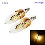 3W E14 LED-stearinlyspærer C35 32 SMD 3014 280 lm Varm hvid Dekorativ AC 85-265 V 2 stk.