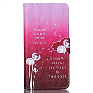 Finger Buckle White Dandelion Painted PU Phone Case for Galaxy S6/S5/S4/S3/S5mini/S4mini/S3mini
