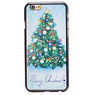 jul stil fint juletre mønster pc hardt bakdekselet for iphone 6 pluss