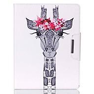 hjorte hoved mønster pu læder hele kroppen tilfældet med stativ til iPad 4 / iPad 3 / iPad 2
