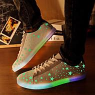 stjärna fluorescensemissions män och kvinnor ledde skor USB-laddning