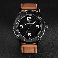 V6 Muškarci Ručni satovi s mehanizmom za navijanje Kvarc Japanski kvarc Koža Grupa Crna Smeđa Kaki Obala Crn Braon Žutomrk