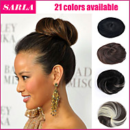 Fake Hair Extension Bride Bun Hairpiece Scrunchie Wavy Hair Pony Tail 21Colors