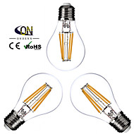 3PCS ONDENN E26/E27 4 W 4 COB 400 LM 2800-3200K K Warm White A Dimmable Globe Bulbs AC 220-240/AC 110-130 V