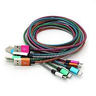 holdbar flettet mikro-USB oplader kabel ledning til Samsung Galaxy S4 s6 note 2 4 5 htc Android-telefon