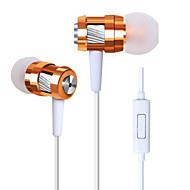 korkea stereokuulokkeet korvassa metalli kuuloke handsfree kuulokkeet ja mikrofoni 3.5mm korvanapit varten pelaaja samsung iPhone