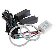 2pcs carchet carro 5W 81 rgb cob levou anjo anel de olho lâmpada lâmpada 80 milímetros DC12V
