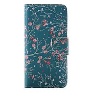 Pour Coque iPhone 6 / Coques iPhone 6 Plus Portefeuille / Porte Carte / Avec Support / Clapet / Motif Coque Coque Intégrale Coque Fleur