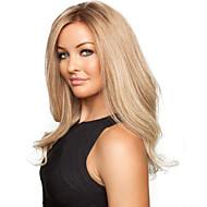 moda dulce dorada longitud media peluca de pelo rizado sintético
