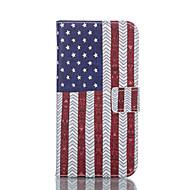 Mert LG tok Kártyatartó / Pénztárca / Állvánnyal / Flip Case Teljes védelem Case Zászló Kemény Műbőr LGLG G3 / LG G3 Beat / G3 Mini / LG