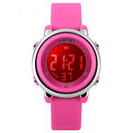 Dziecięce Sportowy Cyfrowe LED Kalendarz Wodoszczelny Dwie strefy czasowe alarm Sportowy Guma PasmoCzarny Biały Niebieski Czerwony