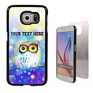 caixa personalizada - sonha o caso coruja design de metal para Samsung Galaxy S6 / S6 edge / nota 5 / a8 e outros