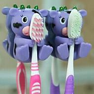 Cute Cartoon Suction Cup Toothbrush Holder Hooks Bathroom Eco-Friendly Household
