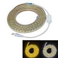 Jiawen vanntett 65W 4000lm 300x5050 SMD LED fleksibel lys stripe (5m lengde / 220v)