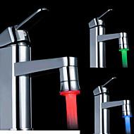 rgb control de la temperatura de color adaptador universal de la cocina llevó nozzl grifo del fregadero (cambio de temperatura del agua)