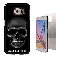 Personalized Case - Black Skull Design Metal Case for Samsung Galaxy S6/ S6 edge/ note 5/ A8 and others