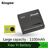 Kingma qualité contact métallique batterie de point pour xiaomi caméra sports batterie 1100mah yi