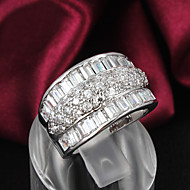 Dames Bandringen Kostuum juwelen Sterling zilver Zirkonia Strass Verzilverd Sieraden Voor Bruiloft Feest Dagelijks Causaal