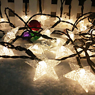 Solar String 6.5M 30LED Lights BlingBling Star Shape String Lights Waterproof Outdoor Lights