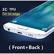 3D Full Coverage High Definition TPU Prevent Scratch Screen Protector For Samsung Galaxy S6 edge(Front+Back)