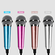 bærbar 3.5mm stik mini mikrofon til iOS / Android / computer (assorterede farver)