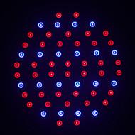 morsen®1pcs ledde anläggningen ljusna lampor e27 smd60 AC85 ~ 265V red: blå = 40: 20 ledde hydroponics lampor för blommor och växter