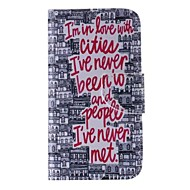 thème de mots modèle en cuir de téléphone noir et blanc pour Samsung Galaxy J5