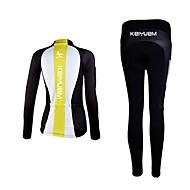 KEIYUEM אופנייים/רכיבת אופניים טייץ רכיבה על אופניים / חולצה+מכנס / מדים בסטים יוניסקס שרוול ארוךעמיד למים / נושם / מבודד / ייבוש מהיר /