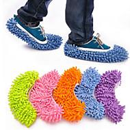 2pcs / set multifunções absorvente limpe chinelos define cor aleatória