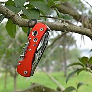 moda bottiglia in acciaio inox opener / coltelli / martelli convenienti 11 multitools metodo campeggio esterno (colore casuale)