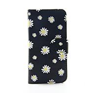 gul blomma pu läder plånbok hela kroppen fodral för ipod touch 5/6