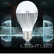 1шт E26 / E27 3W холодный белый алюминиевый корпус Звук-активированный / Декоративные светодиодные умные луковицы коридор светильник